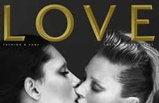Kate Moss and Lea T Share a Kiss in Love Mag
