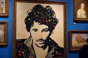 'Icons' from Mr. Brainwash is Made Entirely Out of Broken Records & CDs