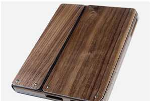 The Slick Leather & Wood iPad Case by Quice