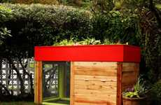 Green Chicken Coops - The Kippen House Features a Rooftop Garden