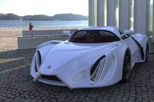 The Ferrari Enzo Prototype Cuts Through the Road Like Butter