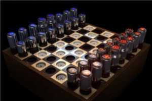 The Vacuum Tube Chess Set by Paul Fryer is a Vintage Marvel