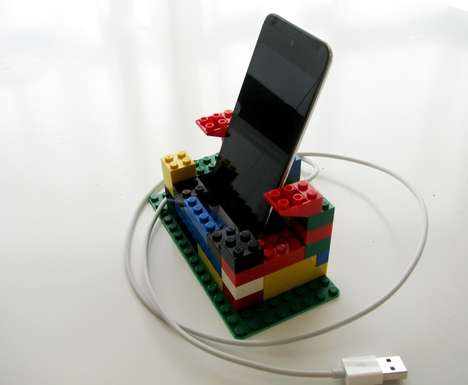 Toy Brick Chargers - This LEGO iPhone iPod Dock Brings Back Retro Gaming Ways