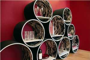 Contemporary Flexi Shelving Provides Cylindrical Storage Solutions