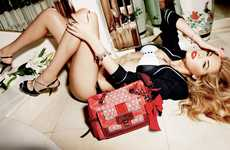 Bed-Lounging Accessory Ads - The Guess Accessories Spring Campaign Spices Up the Bedroom