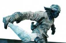 Machete-Wielding Sculptures