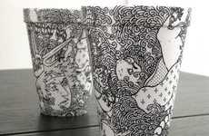 Calligraphic Cups