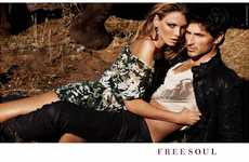 Sultry Safari Spreads - The Free Soul Spring Campaign is Sensually Seductive