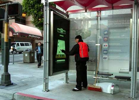 Yahoo bus shelters