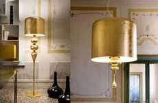Midas Touch Lighting - Masiero's Eva Gold Lamp Brings Subtle Luxury into Your Home