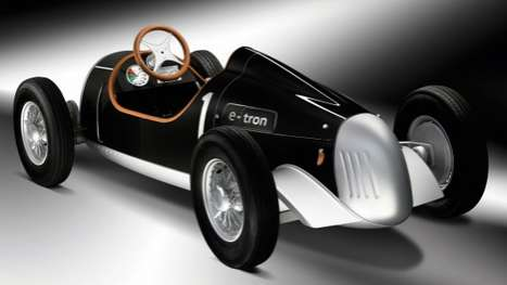 Green Kids' Vehicles - The Auto Union Type C E-Tron Study by Audi is a Mini-Scale Car