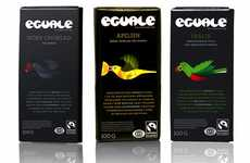 Indulgent Avian Branding - Eguale Chocolate Packaging Delivers Dessert by Wing