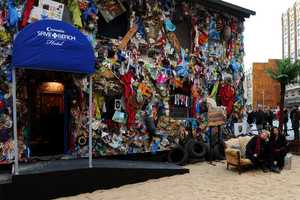 The Beach Garbage Hotel in Madrid is Built from Cast-Off Rubbish