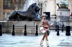 Naked Cowboy Heads to Leicester Square to Perform 'Ode to the Bagel'