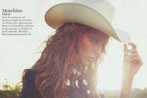 The Daria Werbowy Vogue Paris Spread Upgrades Wild West Fashion