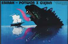 Eastern Bloc Art Projects - The Polish/Czech Monster Movie Posters Bring Color to the Cold War