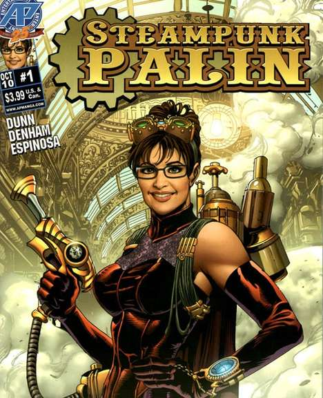 Curvaceous Politician Comics - The Sarah Palin Steampunk Comic Book is Glorious