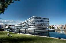Futuristic Eco Libraries - The Waalse Krook Library is a Sleekly Modern and Green Repository