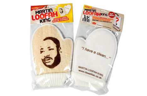 Activist Shower Accessories - The Martin Loofah King Exfoliating Glove Mixes History with Hygiene