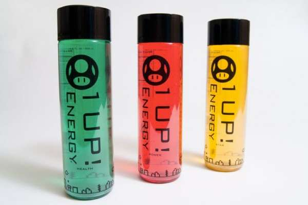 1 Up Super Mario Themed Energy Drink
