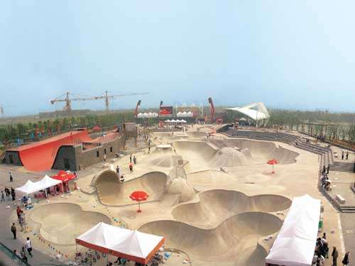 130,000 Square Foot Skateboard Park New Jiangwan City China