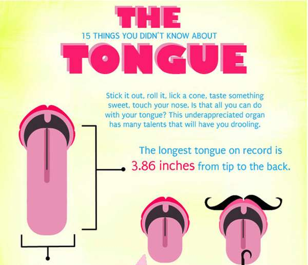 '15 Things You Didn't Know About The Tongue' Infographic