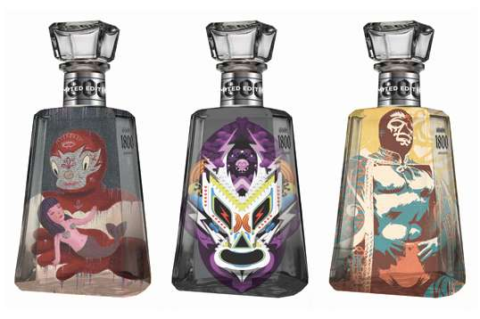 Ludicrous Luchador Liquor Bottles