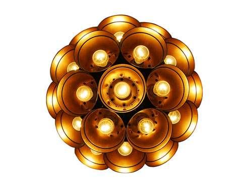 Golden Planter Lighting
