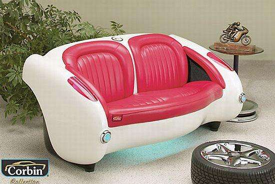 Retrochic Automobile Furniture 1957 Corvette Style Couch