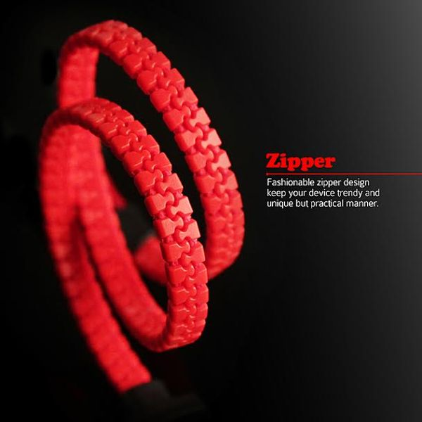 Zipper-Inspired USB Cables