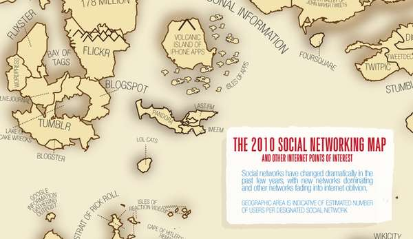 2010 Social Network World Map