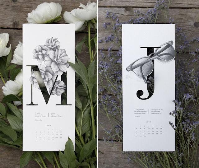 Typographic Art Calendars