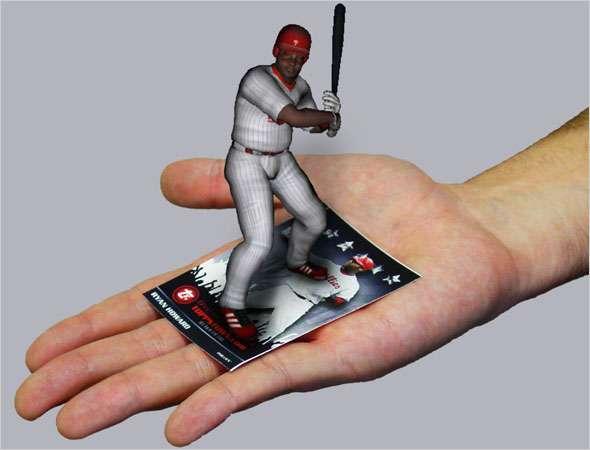 3D Baseball Cards