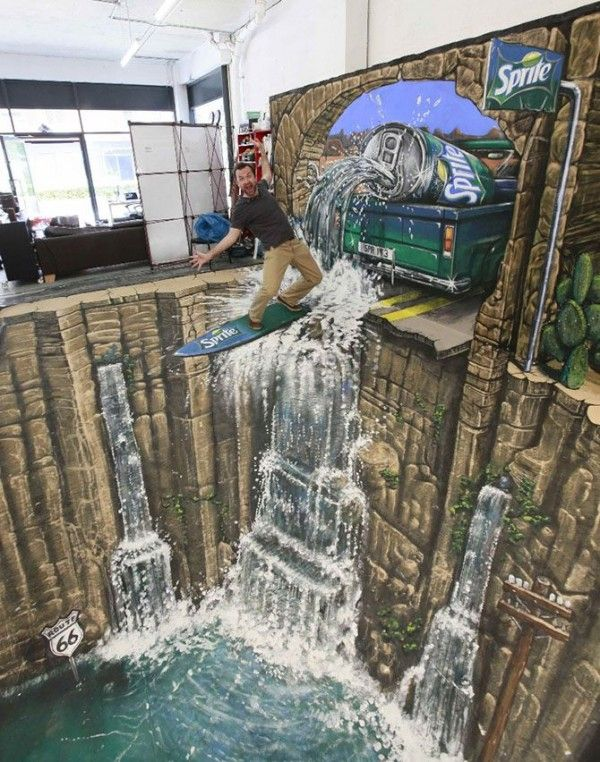 Dramatic 3D Street Art