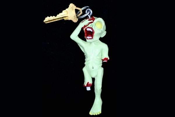 Gruesome Zombified Keychains