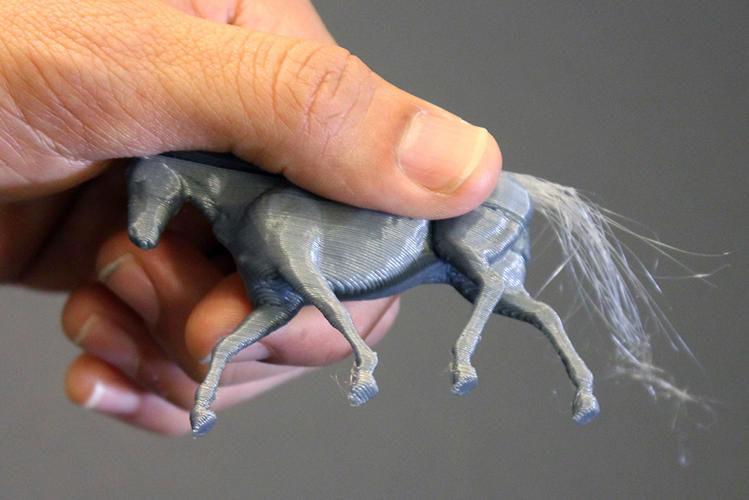 3D-Printed Hair Strands