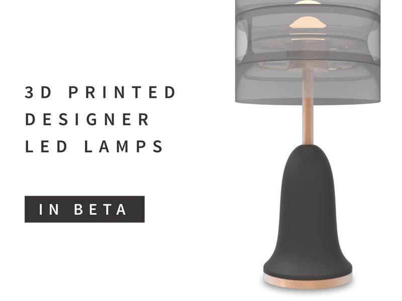 Designer 3D Printed Lamps