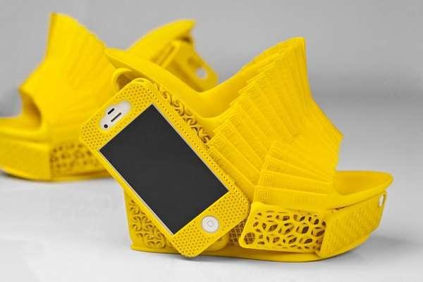 Phone-Integrated Footwear Art