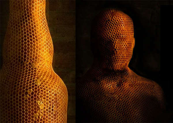 3D Bee-Made Sculptures