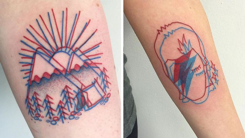 Geometric 3D Tattoos