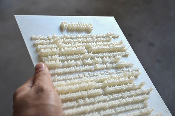 3D-Printed Typography