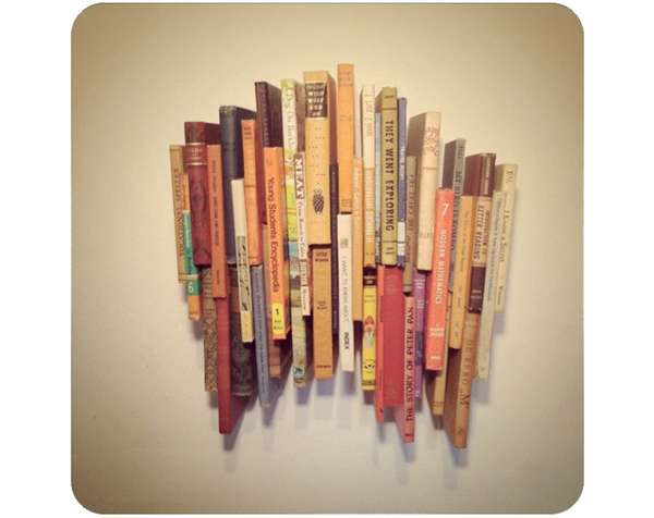 42 Book Wall Sculpture