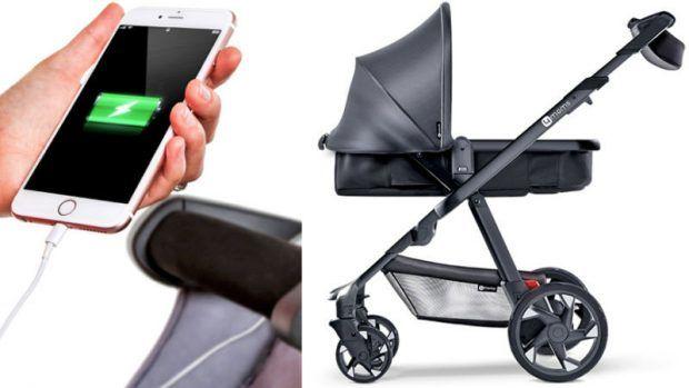 Smartphone-Charging Strollers