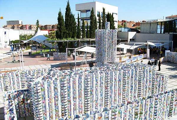 50,000 milk carton castle