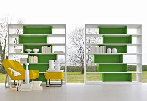 Asymmetrically Colorful Furniture