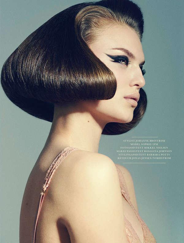60s-Inspired Hair Editorials