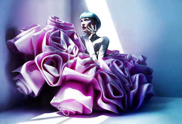 Futuristically Textured Fashion