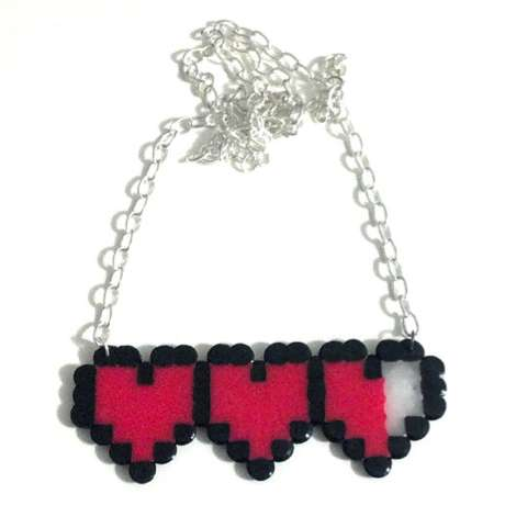 Romantic Pixelated Gamer Accessories