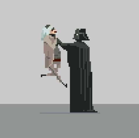 Animated 8-Bit Movie Posters