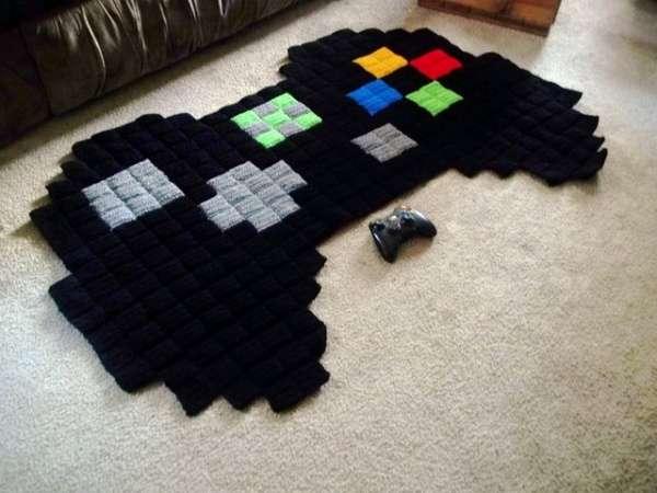 Pixelated Gamer Rugs
